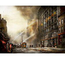 Fireman - Brooklyn NY - Surprise 1909 Photographic Print