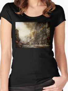 Fireman - Brooklyn NY - Surprise 1909 Women's Fitted Scoop T-Shirt