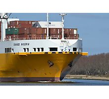 The bow of GRANDE NIGERIA Ship cargo Photographic Print
