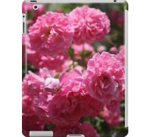 Wild Roses With Garden Background iPad Case/Skin