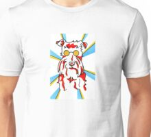 Whimsical and Colorful Schnauzer Marker Drawing Unisex T-Shirt