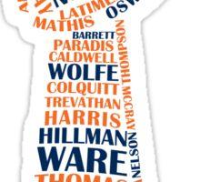 Denver Broncos - Super bowl 50 champions - typography - two colors Sticker