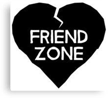 Friend Zone Valentines Day Heart Canvas Print