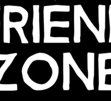 Friend Zone Valentines Day Heart Sticker
