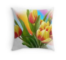 Rainbow Colors Throw Pillow