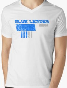 Blue Leader Mens V-Neck T-Shirt