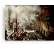 Fireman - New York NY - Big stink over ink 1915 Canvas Print