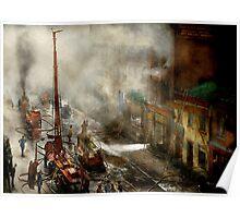 Fireman - New York NY - Big stink over ink 1915 Poster