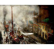 Fireman - New York NY - Big stink over ink 1915 Photographic Print