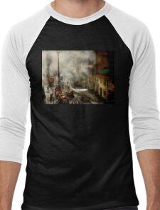 Fireman - New York NY - Big stink over ink 1915 Men's Baseball ¾ T-Shirt