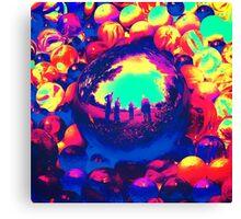 Retro Sphere of Reflections Canvas Print