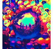 Retro Sphere of Reflections Photographic Print