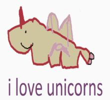 i love unicorns  One Piece - Long Sleeve