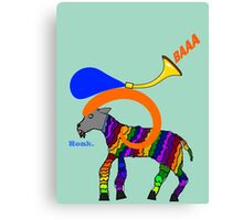 Horn on a Horn Canvas Print