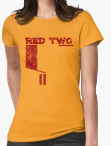 Red Two Womens Fitted T-Shirt