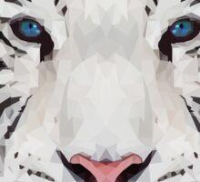 Geometric White Tiger Sticker