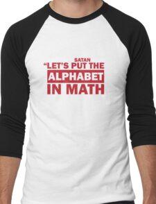 Alphabet in Math Men's Baseball ¾ T-Shirt