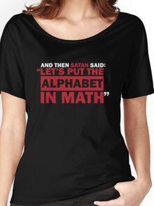 Alphabet in Math Women's Relaxed Fit T-Shirt
