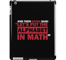 Alphabet in Math iPad Case/Skin