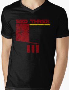 Red Three Mens V-Neck T-Shirt