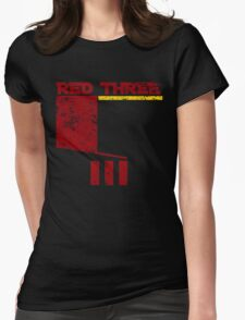 Red Three Womens Fitted T-Shirt