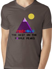 Red-Blu: The Best on the Purple Peaks Mens V-Neck T-Shirt