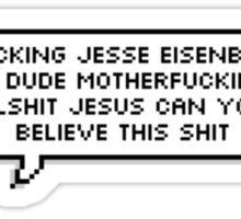 Motherfluffing Jesse Eisenberg Sticker