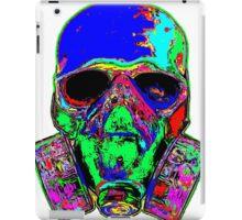 Toxic skull (blue) iPad Case/Skin