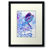 Abstract Bird in Tree Framed Print