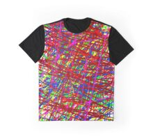 Colorful Scribble Design Graphic T-Shirt