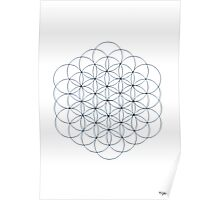 1112 - Pure Big Flower of Life Poster