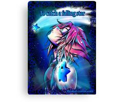 To catch a falling star  Canvas Print