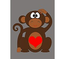 Monkey Love Cute Fun Photographic Print