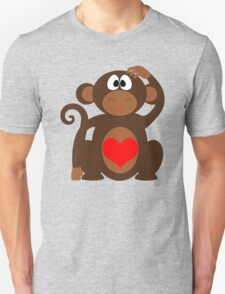 Monkey Love Cute Fun T-Shirt