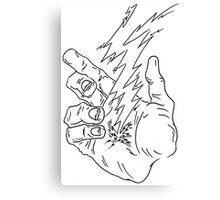 Hand Lighting Canvas Print
