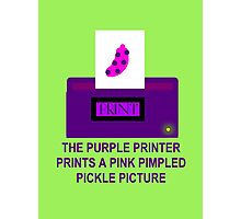 The Purple Printer Prints A Pink Pimpled Pickle Picture Photographic Print
