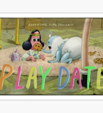 Adventure Time 'play date' title card Sticker