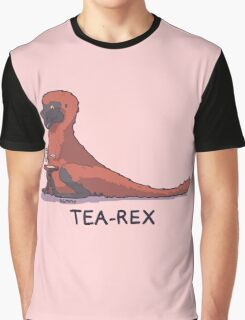 Fluffy Tea-Rex Graphic T-Shirt