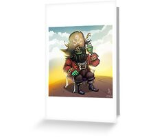0029 - Bone Chair LeChuck Greeting Card