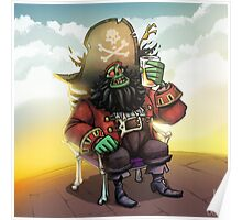 0029 - Bone Chair LeChuck Poster