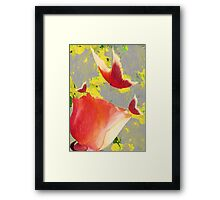 Butterfly and Rose Collage Framed Print