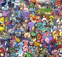 Pokemon Collage by kabeljack