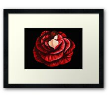 Woman in Rose Framed Print
