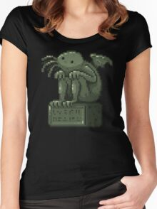 Pixel Cthulhu Women's Fitted Scoop T-Shirt