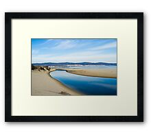 Little river falling into the sea Framed Print