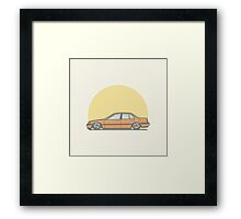 Honda Accord CB-7 Vector Illustration Framed Print