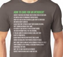 How To Care For An Introvert Unisex T-Shirt