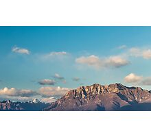 sunset on the mountains Photographic Print