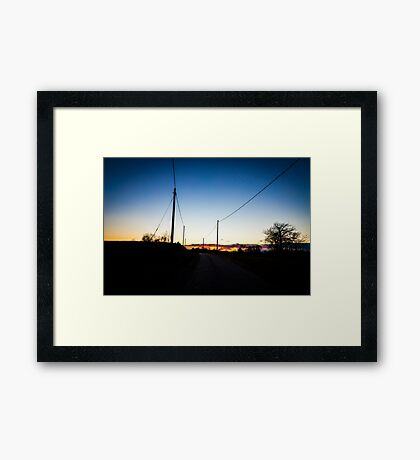 road towards the sunset Framed Print