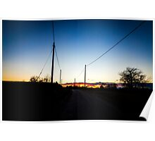 road towards the sunset Poster